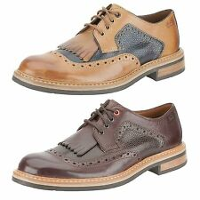 MENS CLARKS LEATHER FORMAL SMART LACE UP WEDDING OCCASSION SHOES DARBY DESERT