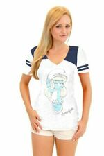 Juniors True Vintage The Smurfs Smurfette Pose Burnout White and Navy T-shirt