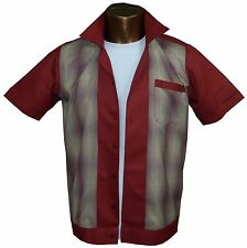 1950s/1960s Rockabilly ,Bowling, Retro, Vintage Men's shirt, 'New' Rust/Fleck