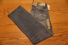 NWT MEN'S SILVER JEANS Multiple Sizes Zac Relaxed Fit Straight Leg Joga Jean $98