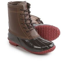 NIB WOMENS 8 9 KHOMBU DUCK LETTY LEATHER SNOW WINTER WATERPROOF INSULATED BOOTS