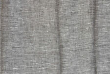 "Wide 100%  Linen Fabric Width 102"" Gray Brown Pure Flax Cloth light weight"