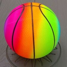 (1) 7 INCH NEON AIRBRUSHED CHILDRENS PLAYGROUND KICK BALL PARTY FAVOR