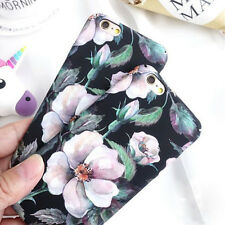 Retro Vintage Flower Pattern Hard Matte Back Case Cover For iPhone 7 7 Plus 6 6S