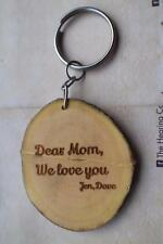 keychain, key holder wooden customized, wooden custom message father day