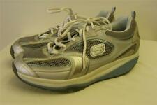 womens SKECHERS SHAPE UPS BLUE GRAY leather fit walking shoes 9  EU 39 CLEAN