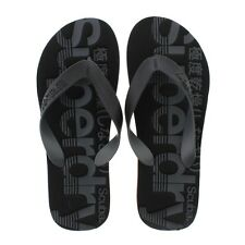 Superdry Scuba Flip Flop - Black-Black-Hazard Orange (Synthetic) Mens Sandals