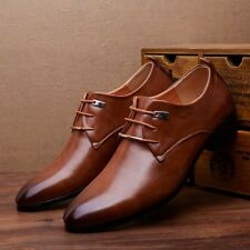Men's New Dress Formal Oxfords Leather shoes Business Dress Wedding Casual Shoes