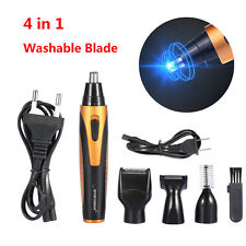 4in1 Men's Professional Nose Hair Clipper Trimmer Electric Beard Shaver Grooming
