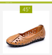 Genuine Leather Soft Women Shoes Woman Casual Soft Flat Beige Yellow Black Shoes