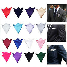 Men Fashion Solid Handkerchief Hanky Pocket Square Towel Wedding Suit Party New