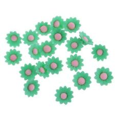20Pcs 30mm Polymer Clay Charms Loose Spacer Flower Beads for Jewelry Making