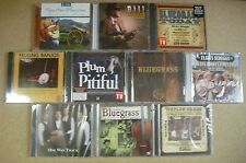 1 LOT OF 10  ASSORTED  BLUEGRASS  CDs  - NEW - SEALED  (A)