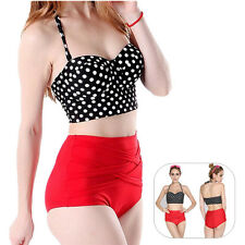 Bikini Pin Up 1 Set Hot Women Bra + Panty Sexy Polka Dot New