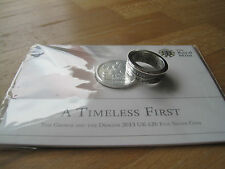 St George and the Dragon 2013 UK £20 Fine Silver Coin Ring
