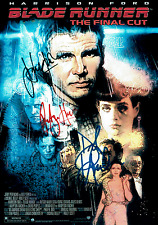 Blade Runner 016 - Cast Signed x 3 REPRINT - Ford, Hauer + Hannah (1982)