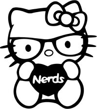 Hello Kitty - Nerds Love - Vinyl Car Window and Laptop Decal Sticker
