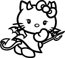 Hello Kitty - Devil - Vinyl Car Window and Laptop Decal Sticker