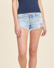 Hollister by Abercrombie and Fitch Low Rise Medium Wash Denim Short-Shorts