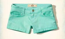 NWT Hollister by Abercrombie and Fitch Low-Rise Twill Turquoise Short-Shorts