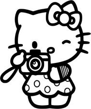 Hello Kitty - Tourist Camera - Vinyl Car Window and Laptop Decal Sticker
