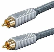Single RCA Pro Audio Cable w/ OFC Copper for Home Theater Surround Sound Systems