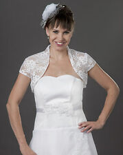 Wedding or Evening Tulle And Lace Bolero Bridal Jacket Short Sleeves   A-111