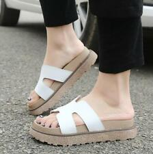 Womens Mules Sandals Platform Slip On Slides Wedge Flip Flops Beach Shoes New YT