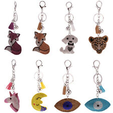 Key Finder Keyring Key Chain w. Charm Soft Bling Animals Eyes Phone Decor