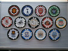 1 FOOTBALL POKER CHIP CARD GUARD SWANSEA SPURS ARSENAL QPR DERBY MAN U WEST HAM