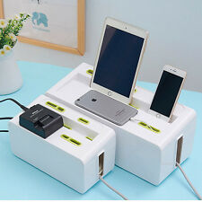 Cable Power Strip Storage Box Case Wire Management Socket Safety Tidy Organizer