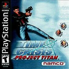 PS1 Time Crisis Project Titan NEW Factory Sealed Sony PlayStation 1 2001 Namco