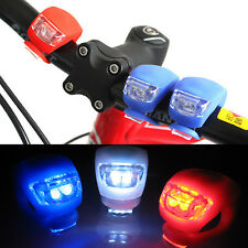 Safety Cycling Rear Wheel Silicone Head Front Light Lamp LED Flash Bike Bicycle