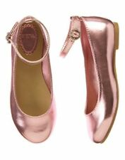 NWT Gymboree Picnic Party Pink metallic pink Dressy Flats Shoes 10 1 2