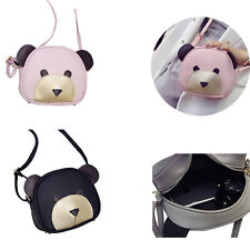 1Pcs Cute bear face Messenger bag Shoulder Bag PU Leather Girl's Handbags Women