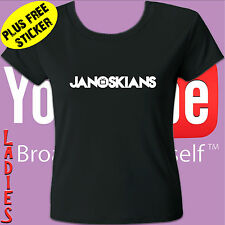 JANOSKIANS T-SHIRT TEE - YOUTUBE - TEENS, LADIES & MENS SIZES