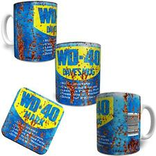 Grunge WD40 Inspired YOUR NAME Personalised Printed Mug & Coaster FREE DELIVERY