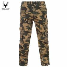 Men Casual Pants Cargo Pants Army Camouflage Trousers Pants