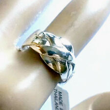 PUZZLE RING .925 Sterling Silver 6 Pc Interlocking Puzzle Band Ring Sizes  6- 12