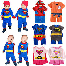 Infant Boys Girl Baby Super Hero Romper Outfit Suit Party Fancy Dress Costume US