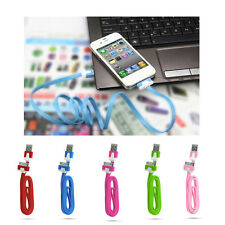 HOT 3Ft/1M Flat Noodle USB Charger Sync Data Cable Cord for iPhone 4 4S 4G