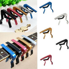 Electric Quick Change For Acoustic Clamp Classic Guitar Clamp Key Capo Silver