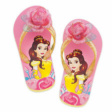 NWT Disney Store Belle Beauty & The Beast Flip Flops Sandals Shoes Girls Princes