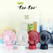 Double Leaf USB Fan Creative Ultra Mute Mini Desktop Fan for City Office 4 color