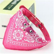 Fashion Dog Bandana Collar Necklace Printed Pu Leather Collar For Pet Products