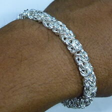"""New 6.5 mm Byzantine Chainmaille Bracelet Woven 925 Sterling Silver 6""""-10"""" Long"""