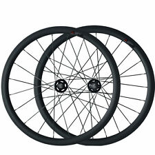 New 23mm width 38mm Tubular Carbon Wheels Track Fixed Gear Bicycle Wheelset
