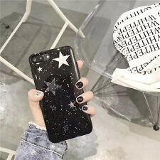 Cute Bling Sparkle Stars Candy Black Soft Case Cover for iPhone 7 7 Plus 6S Plus