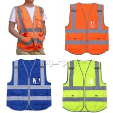Safety Security Visibility Reflective Vest Construction Traffic/Warehouse M-XXL