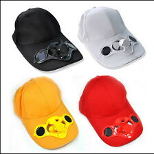 Sporting Solar Wind Power Hat Cap Cooling Cool Fan F Golf Outdoor Hiking Y8